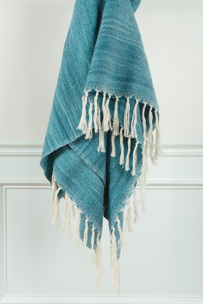 Turquoise Waves Casual Knit Throw view 2