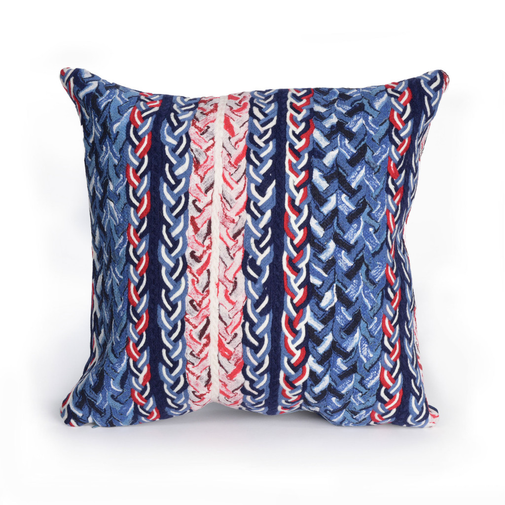 Nautical Braided Stripe Indoor-Outdoor 20 x 20 Pillow