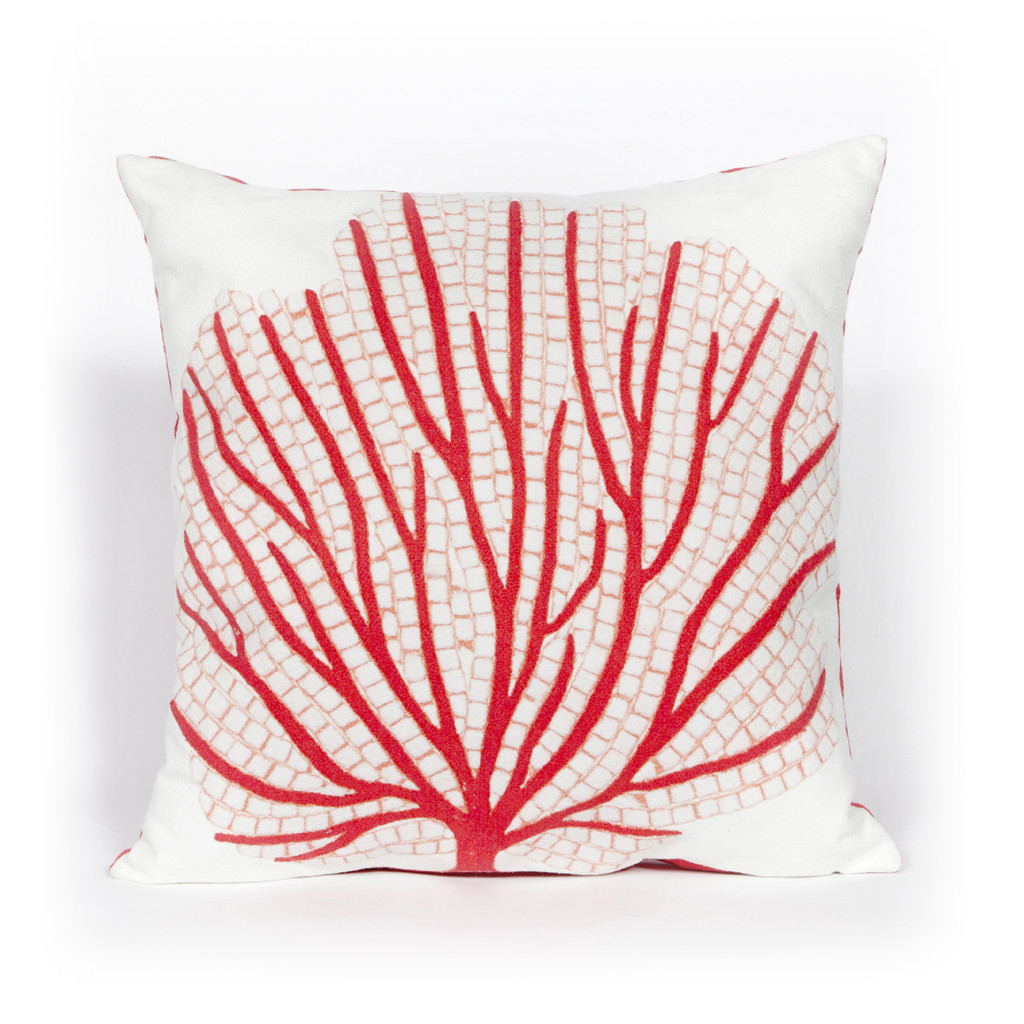 Red Sea Fan Indoor-Outdoor 20 x 20 Pillow