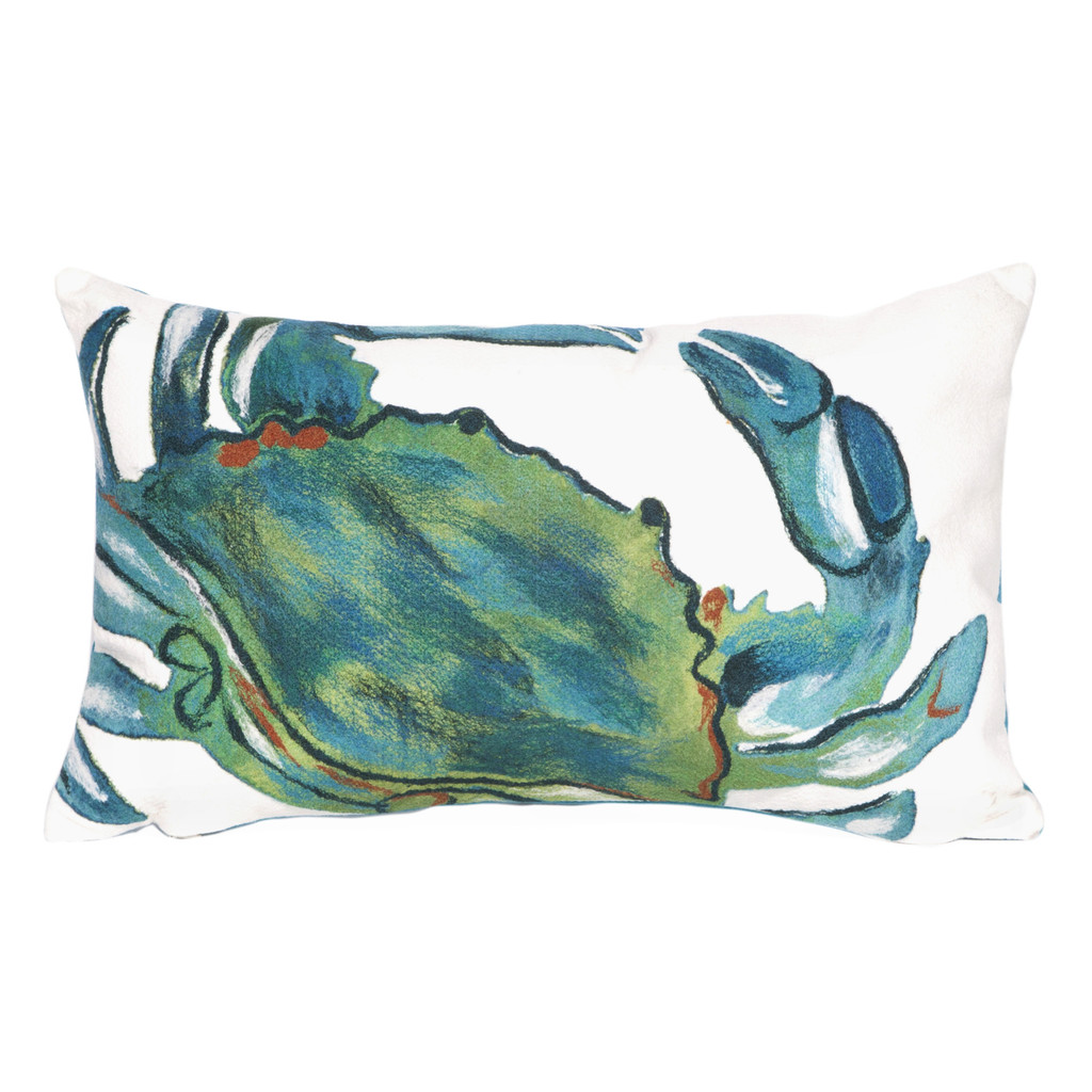 Blue Crab Indoor-Outdoor Sea 12x20 Pillow