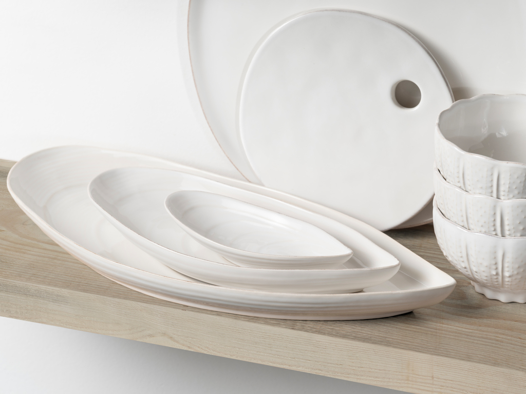 Mussel Shell Shaped Aparte Serving Dishes