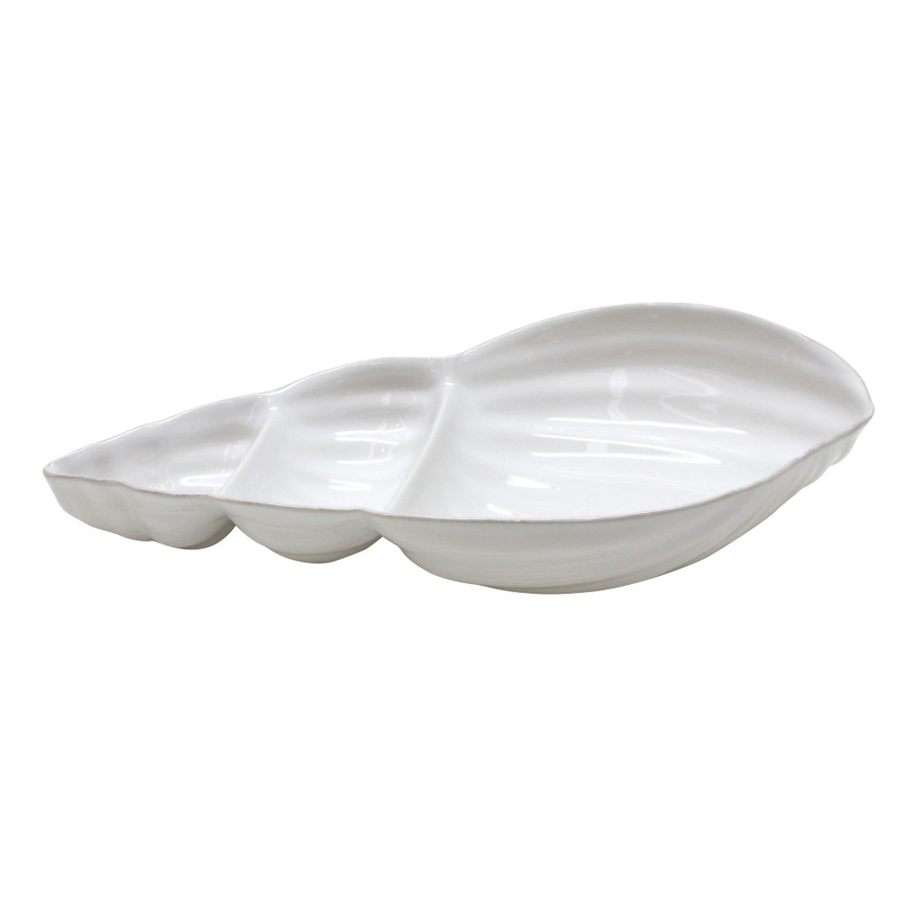 Shell Shaped Aparte Divided Serving Dish