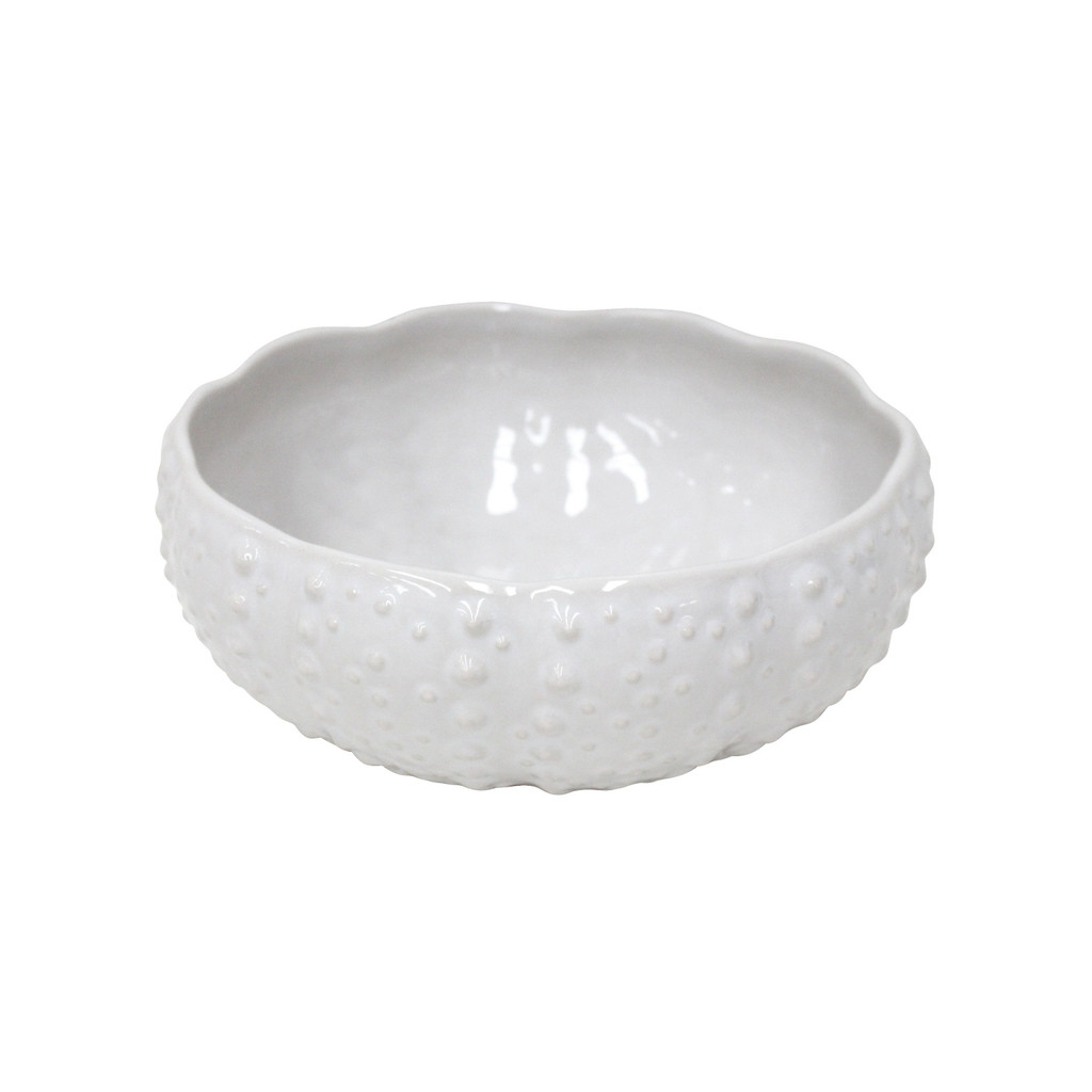 Sea Urchin Shaped White Aparte Serving Bowl