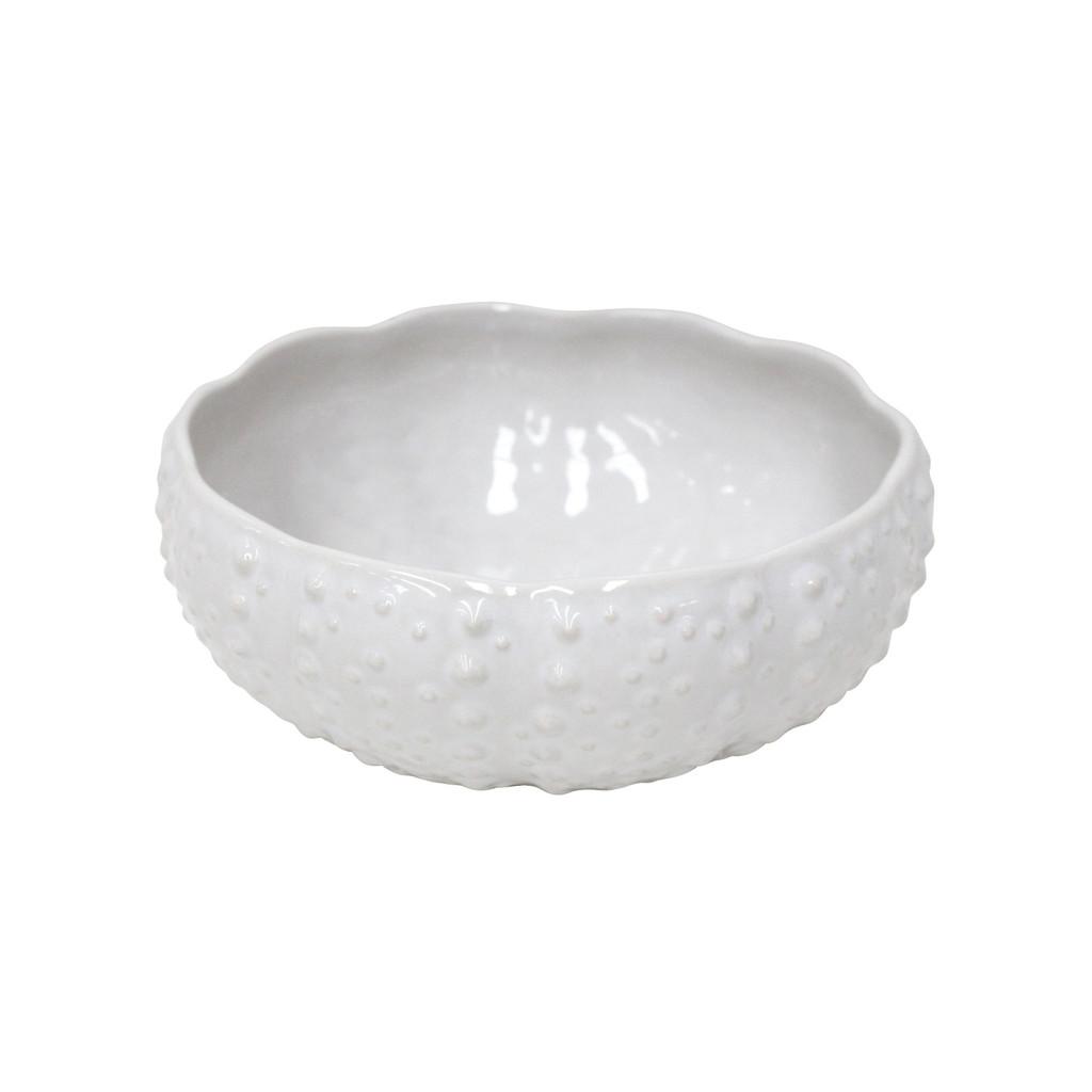 Sea Urchin Shaped White Aparte Serving Bowl
