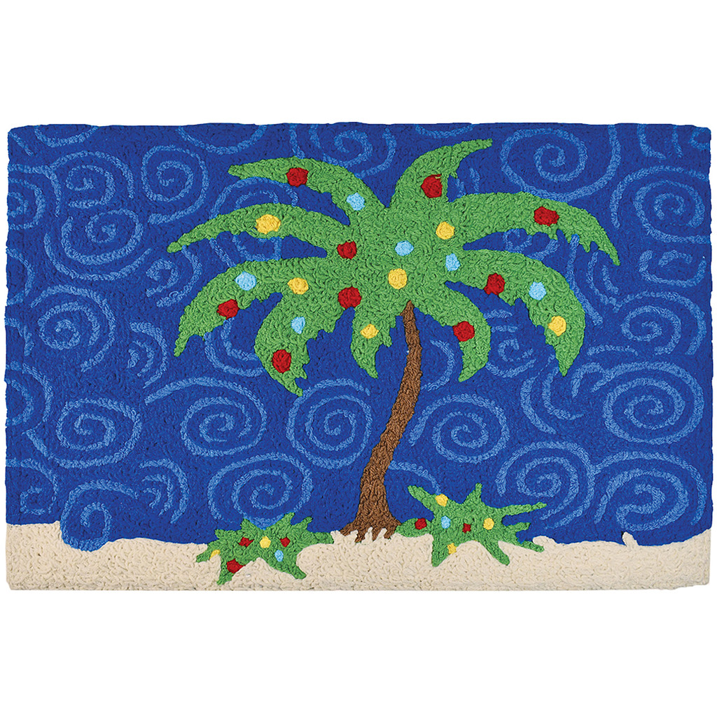 Holiday Palm Tree Accent Rug