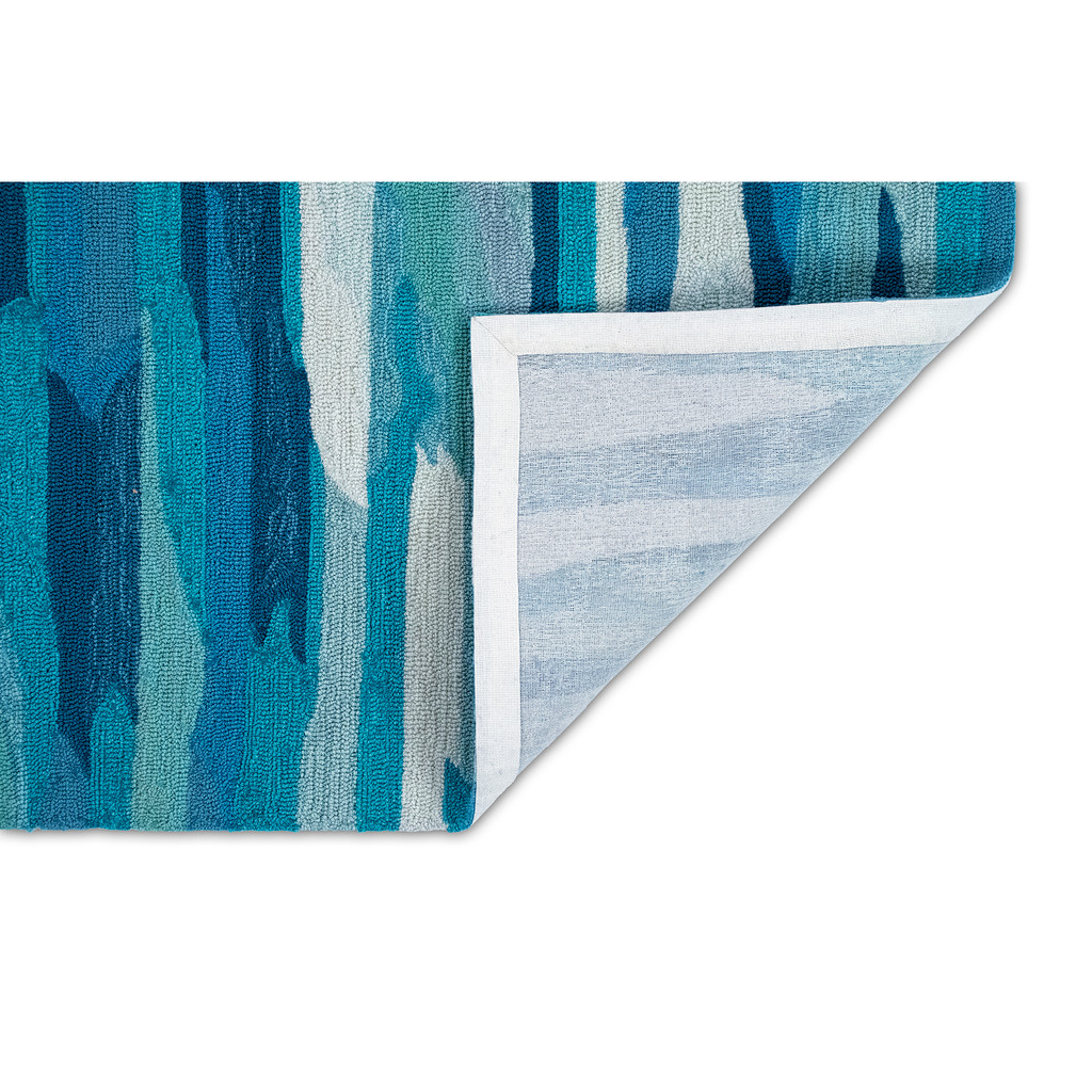 Clouds over Aruba Hand Tufted Rug backing