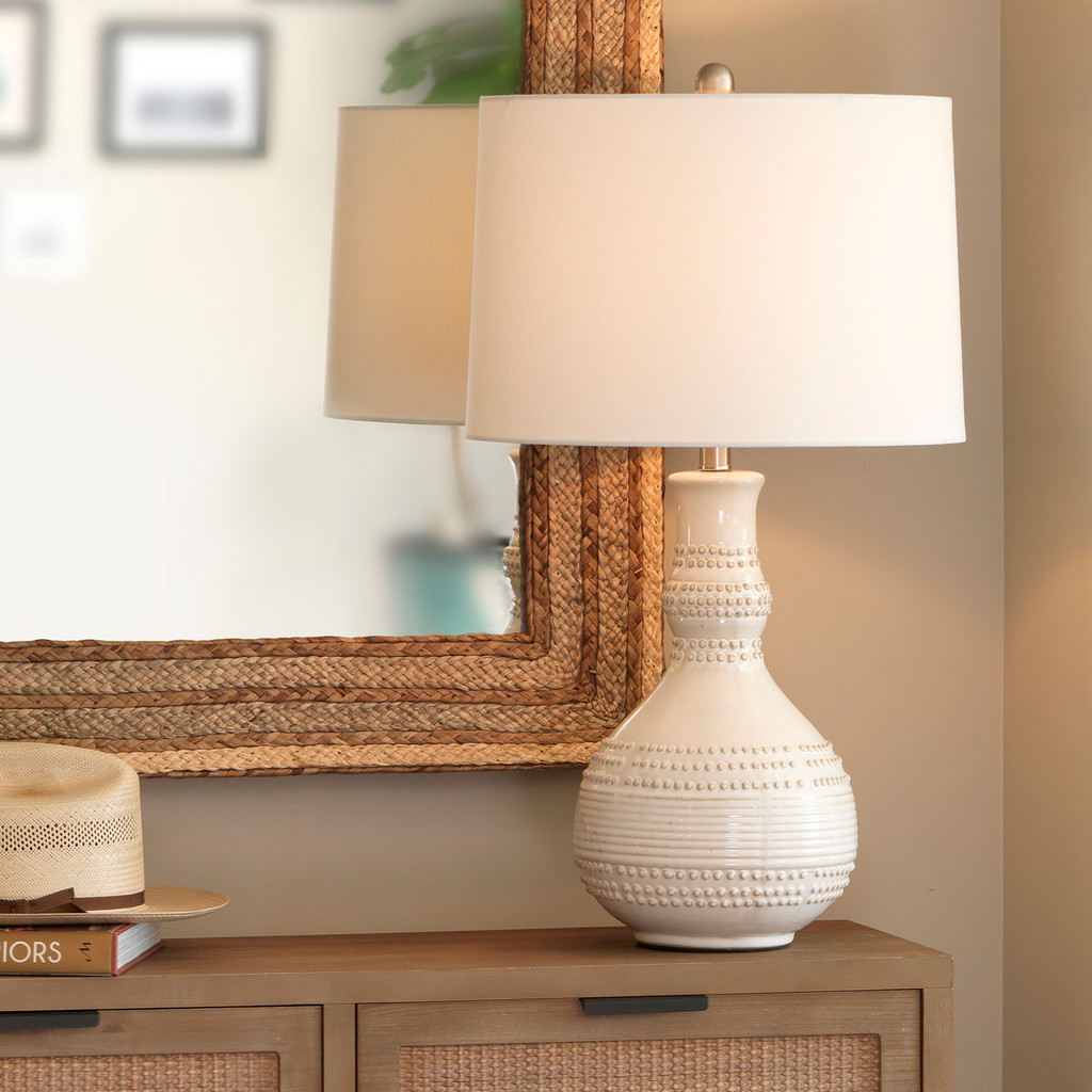 White Water Droplet Table Lamp room view