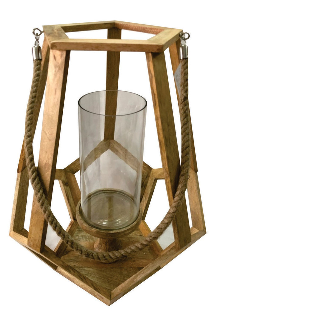 Myers Beach Candle Holder with Rope Handle