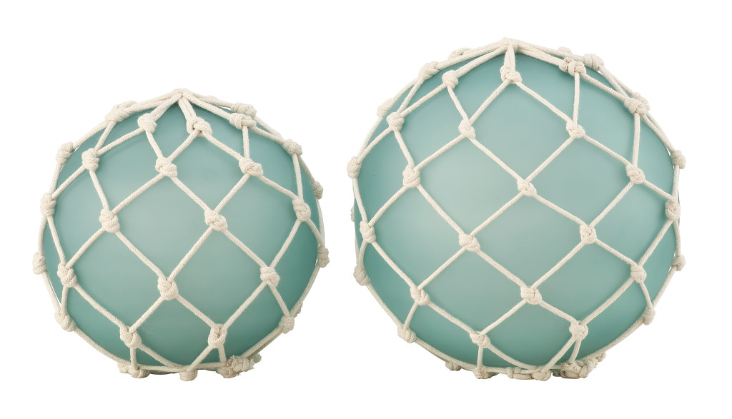Fisher Netted Buoy Decor - Set of Two
