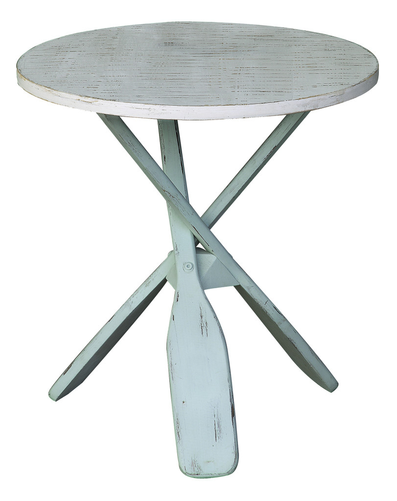 Two Tone Paddles Accent Table