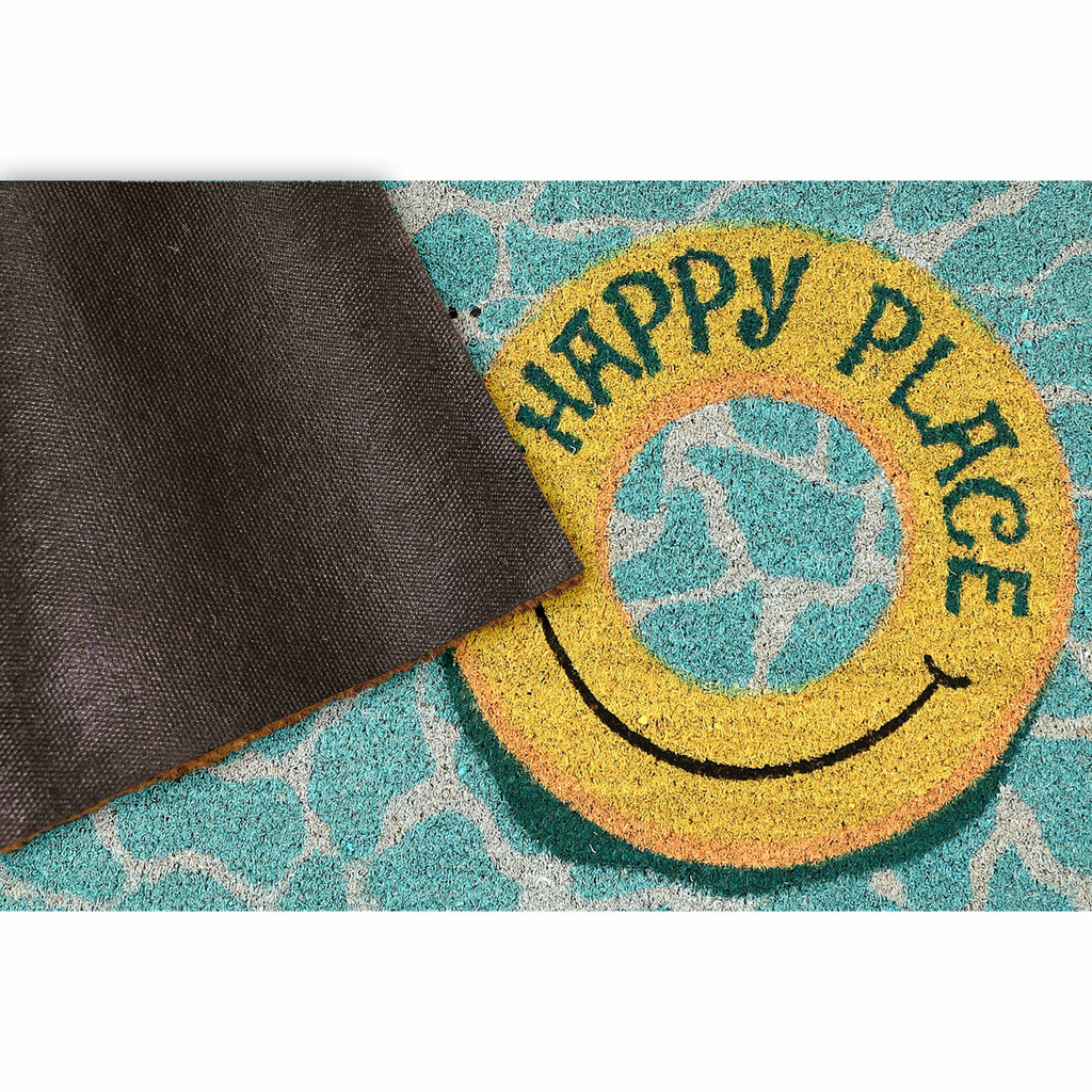 Our Happy Place Natura Coir Door Mat - 24 x 36 backing
