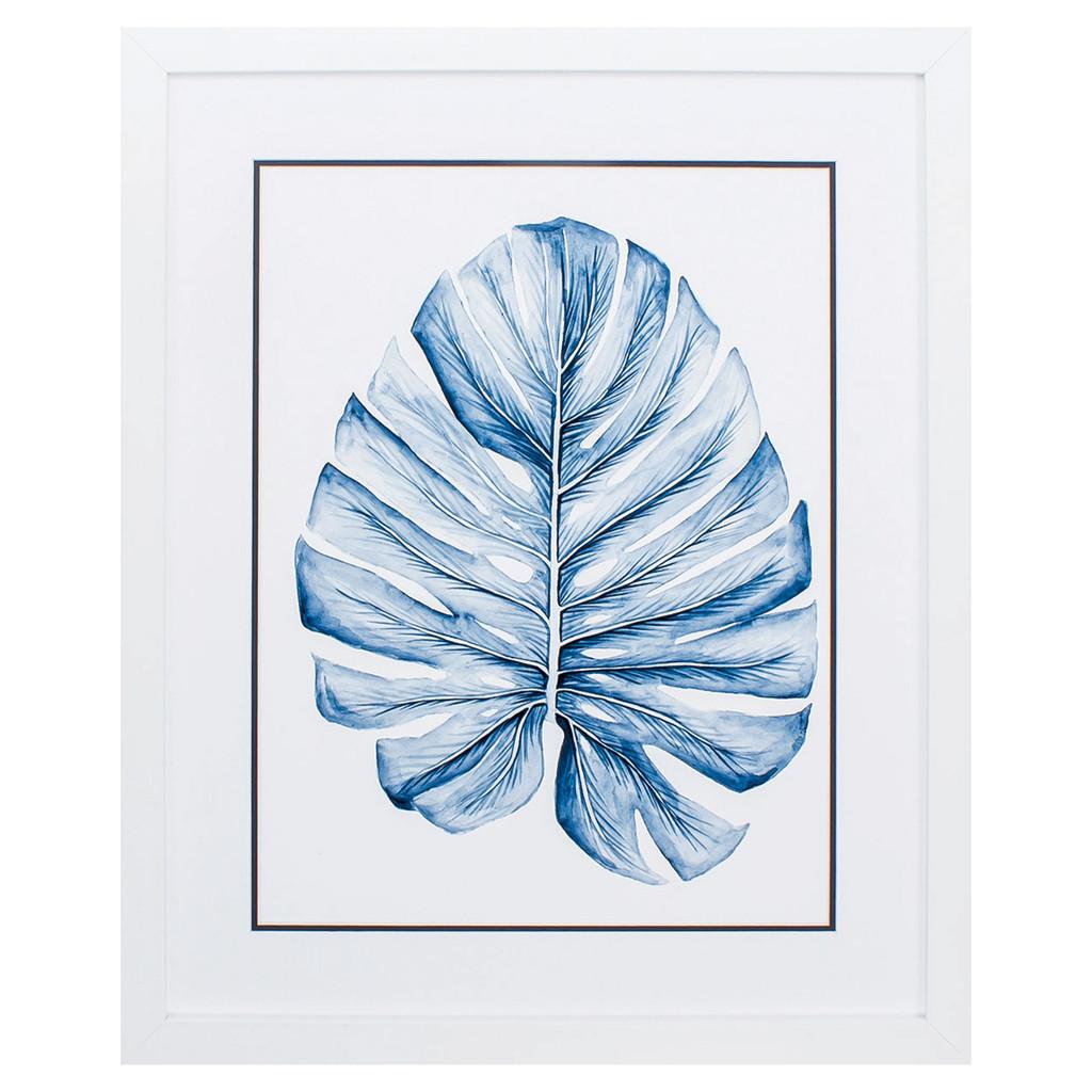 Deep Blue Indigo Tropical Leaf I Image