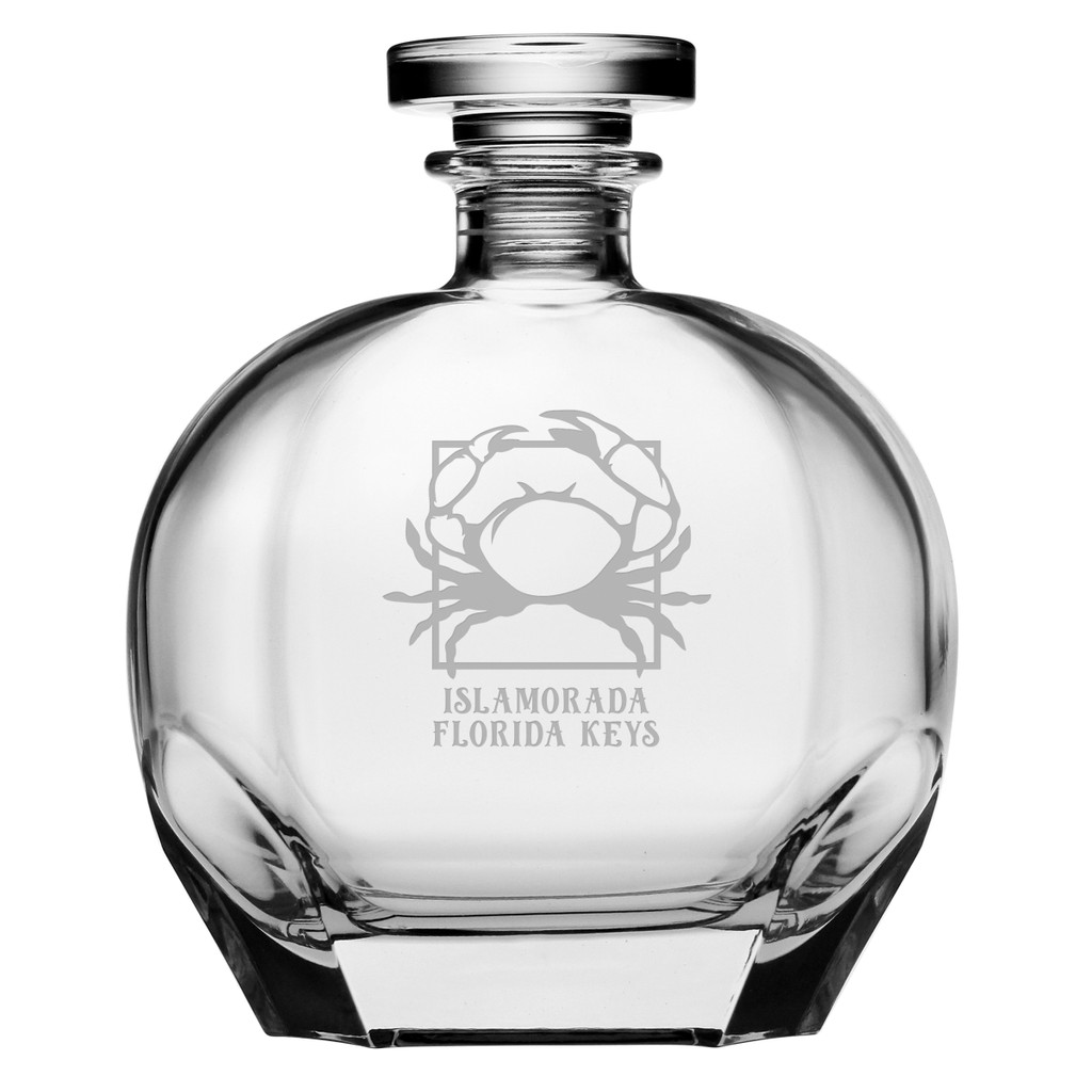 Personalized Crab Puccini Decanter