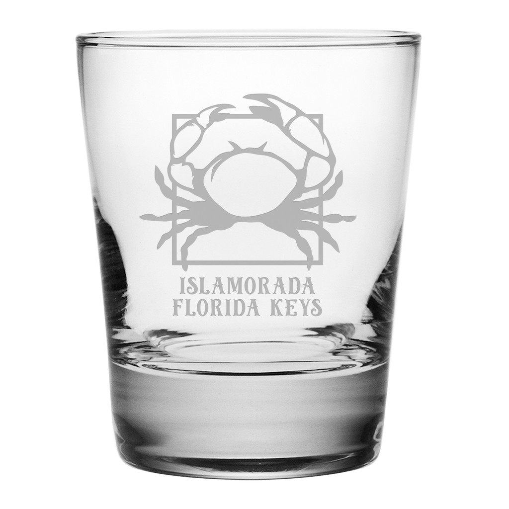 Personalized Crab Double Old Fashioned Glasses