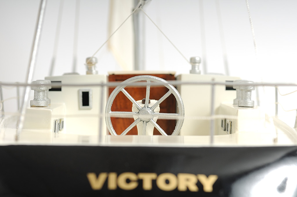 The Victory Sailing Yacht Model back