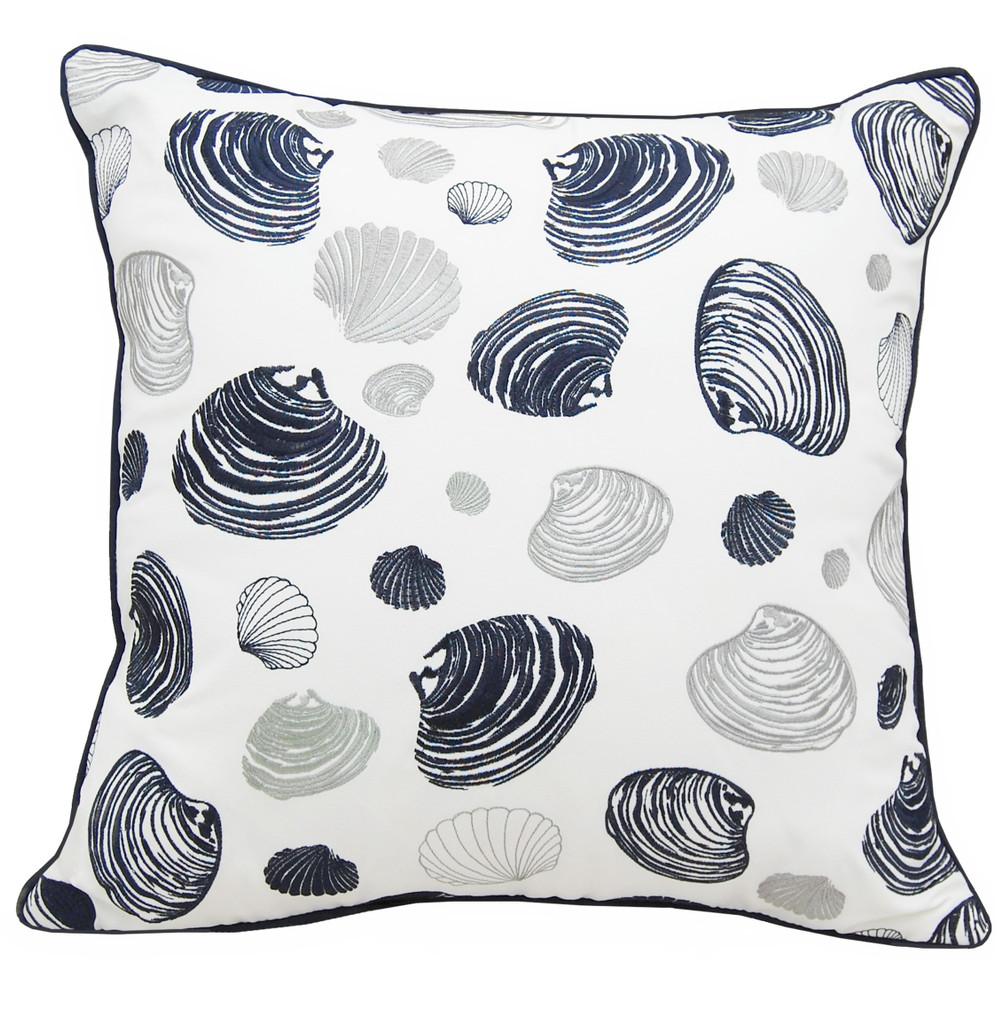 Bunch of Clams Embroidered Pillow