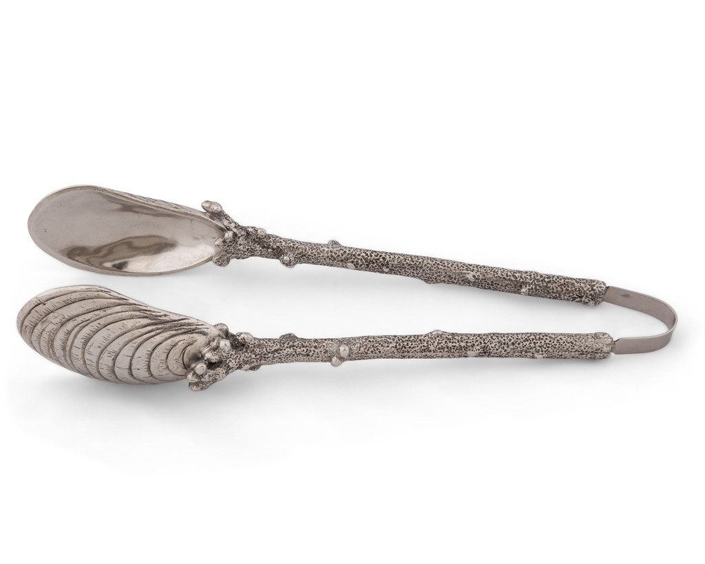 Oyster and Coral Serving Tongs view 3