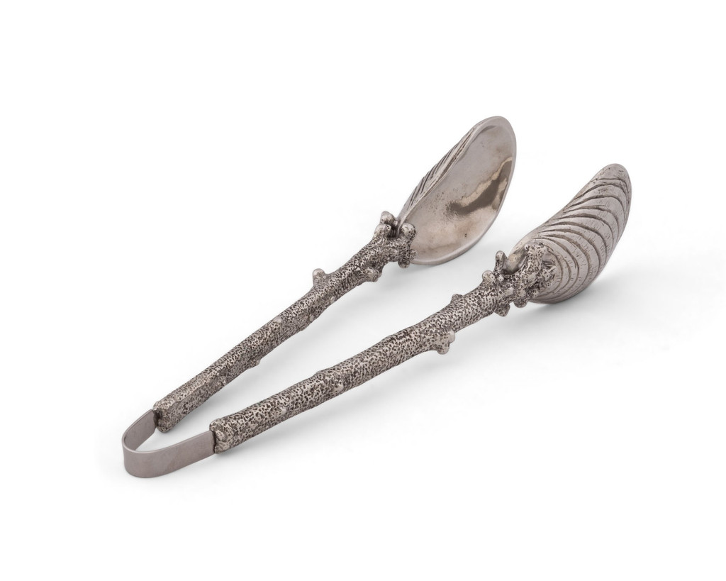 Oyster and Coral Serving Tongs