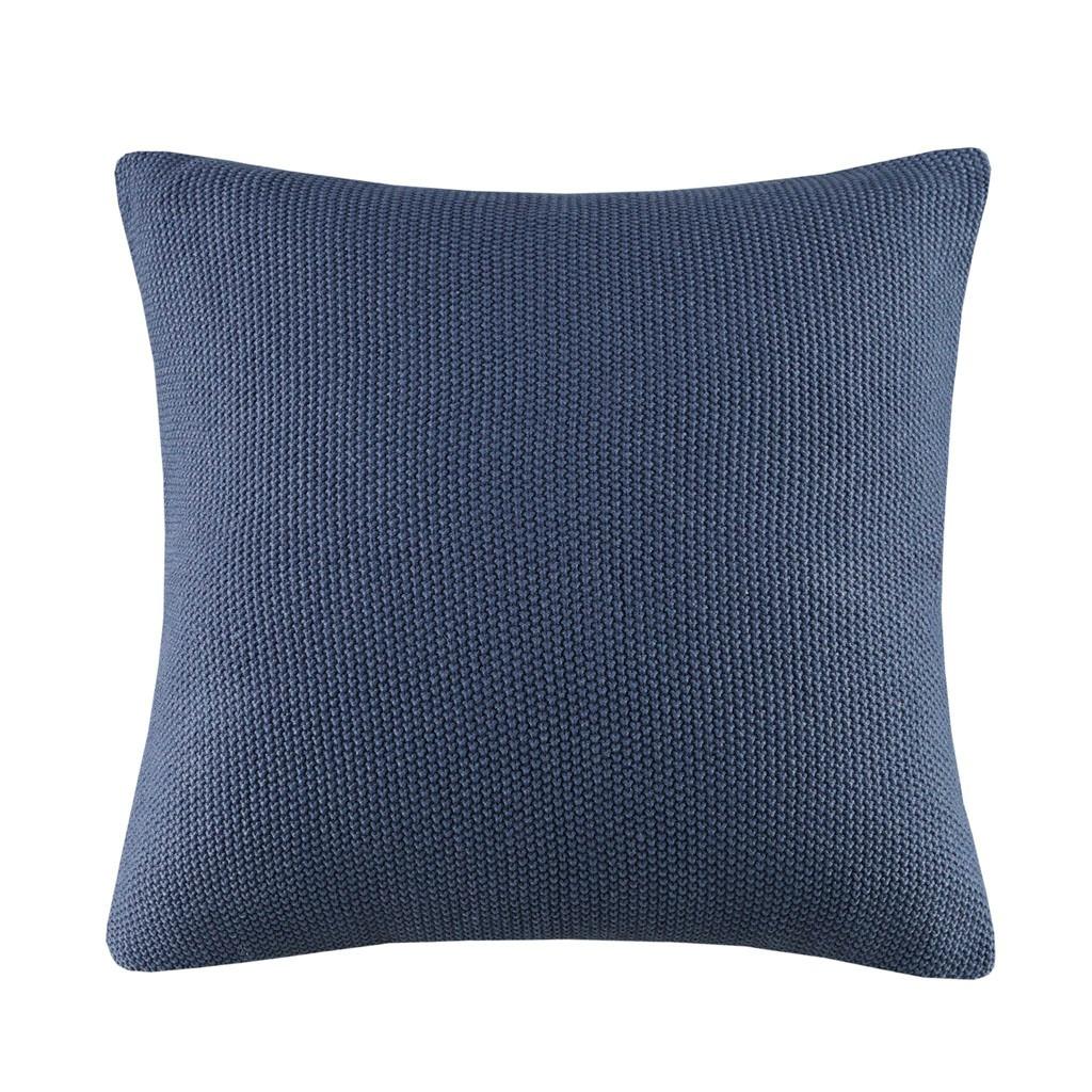Indigo Blue Bree Knit Euro Sham