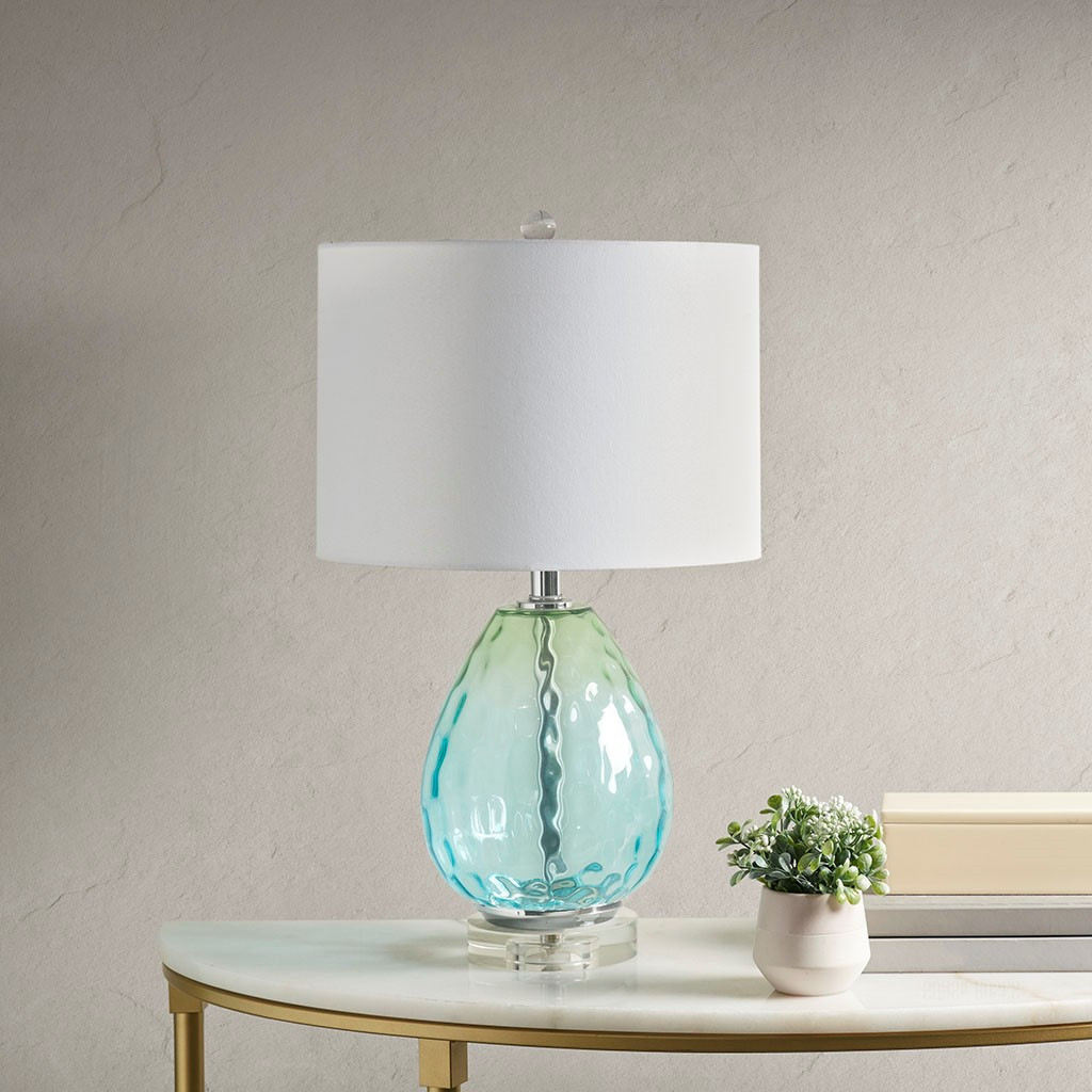 Aurora Sea Aqua Glass Lamp room view