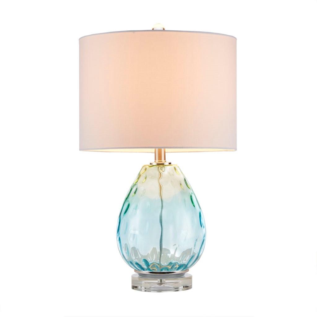 Aurora Sea Aqua Glass Lamp