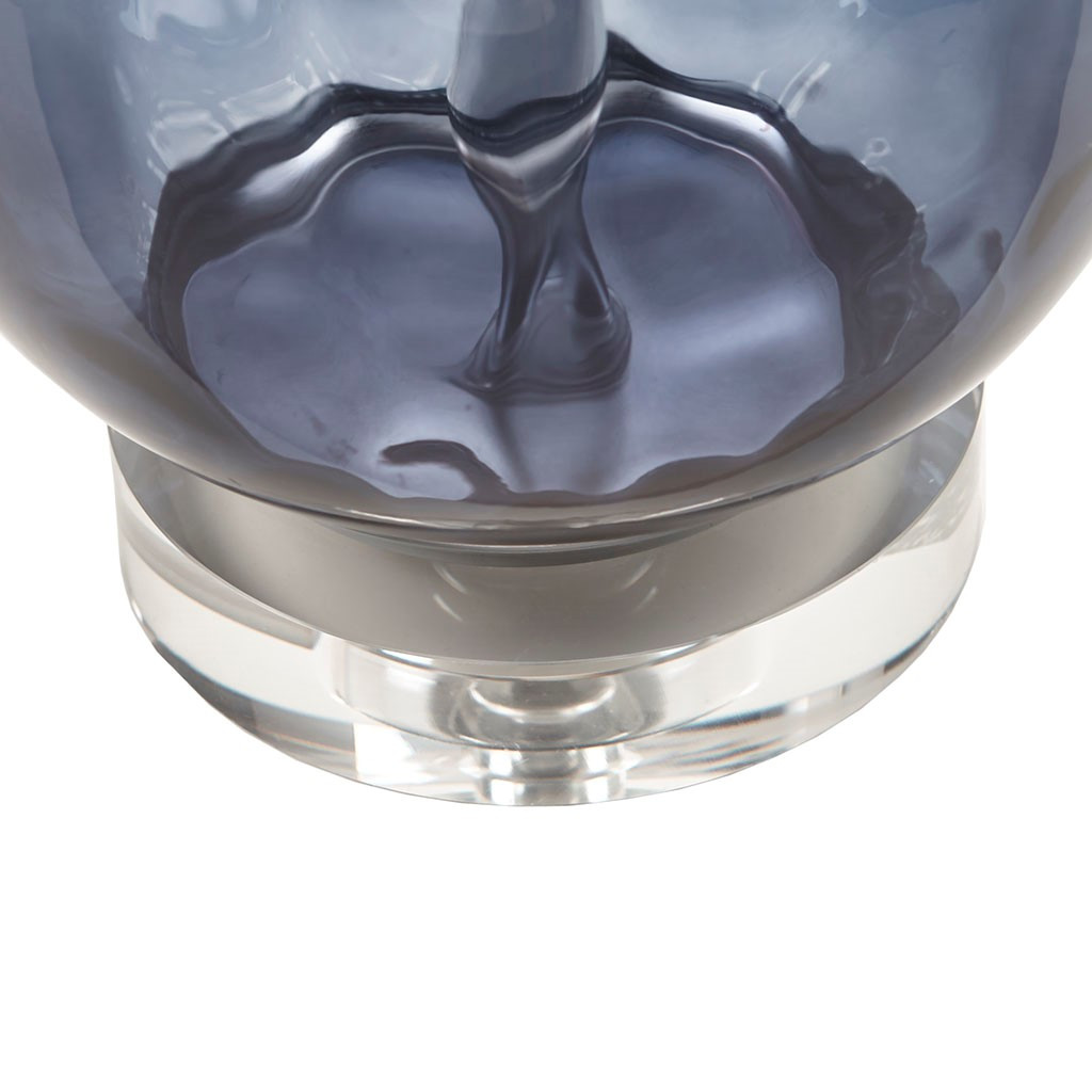 Aurora Sea Indigo Glass Lamp base of lamp