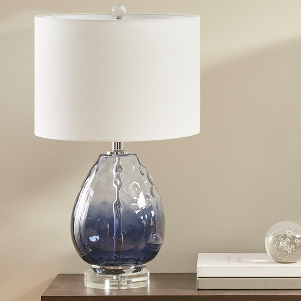 Aurora Sea Indigo Glass Lamp