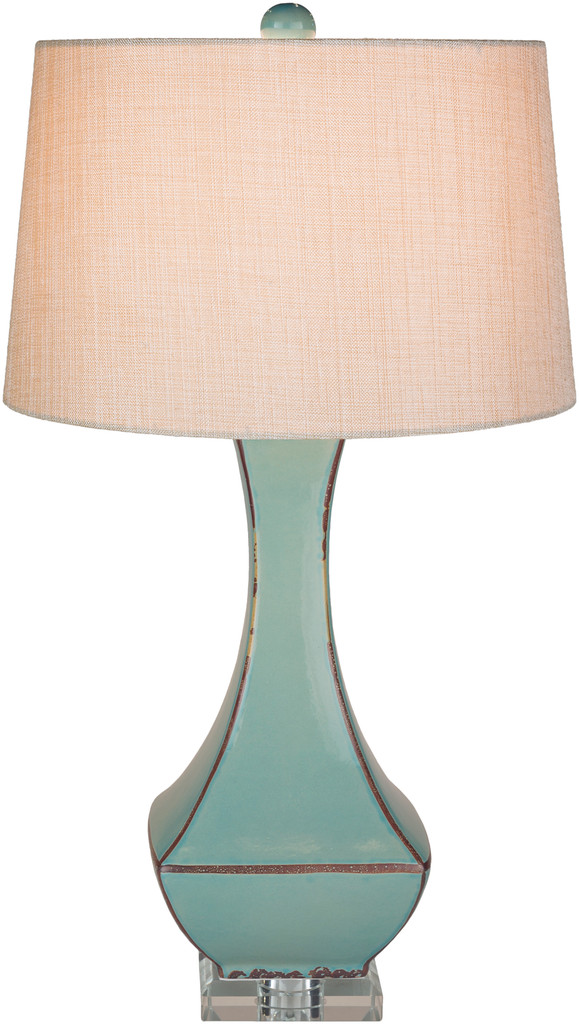 Bell Haven Teal Ceramic Table Lamp