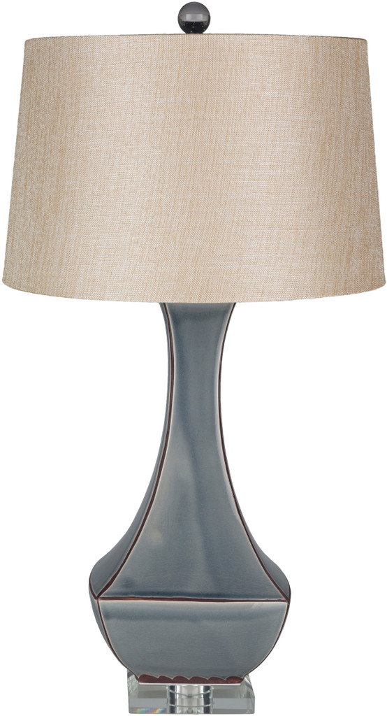 Bell Haven Sea Blue Ceramic Table Lamp light off