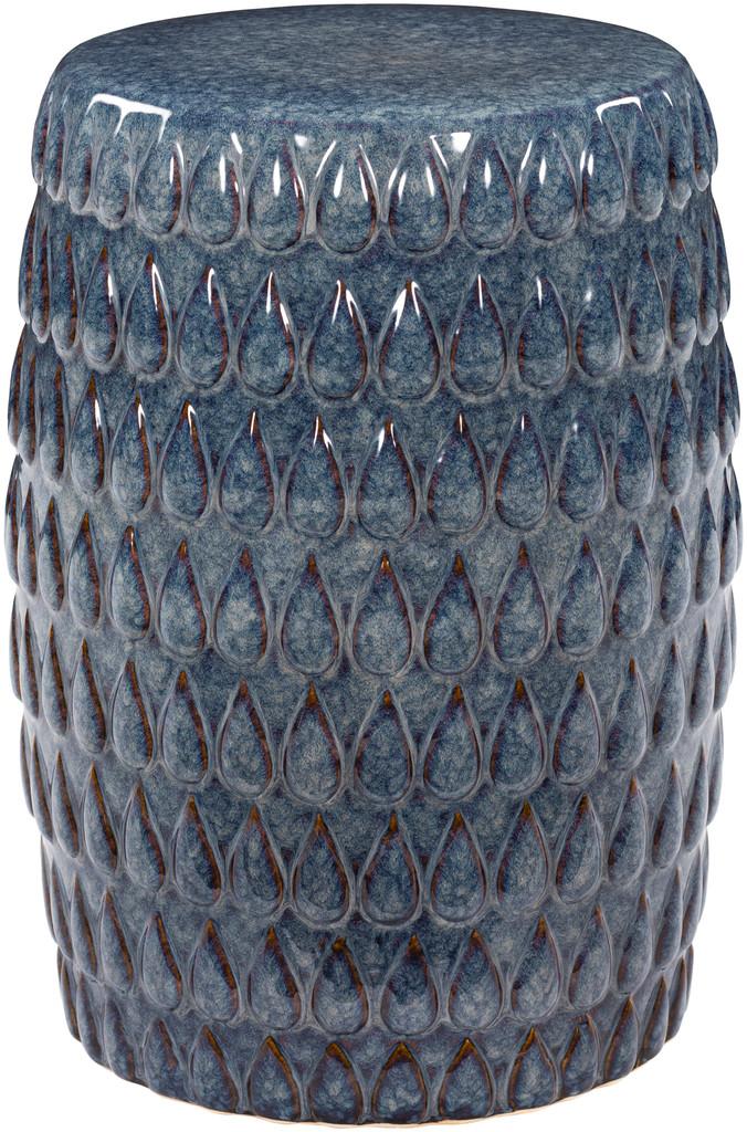 Blackwell Artisan Blue Ceramic Garden Stool