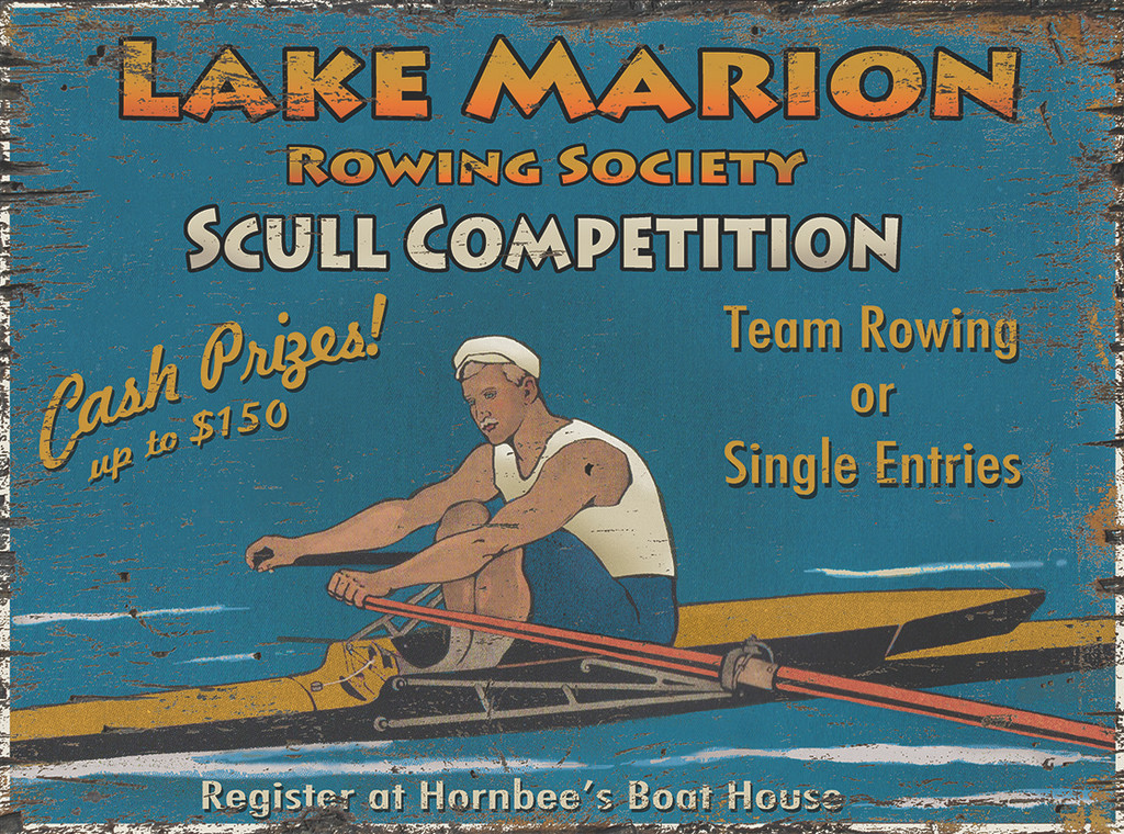 Scull Rowing Competition Art Sign