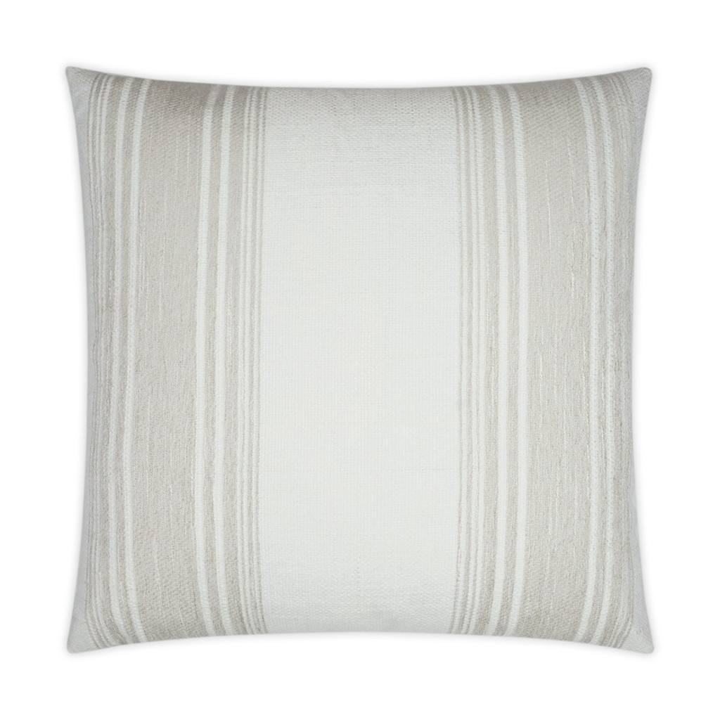 Luxury Balboa Cream Striped Pillow