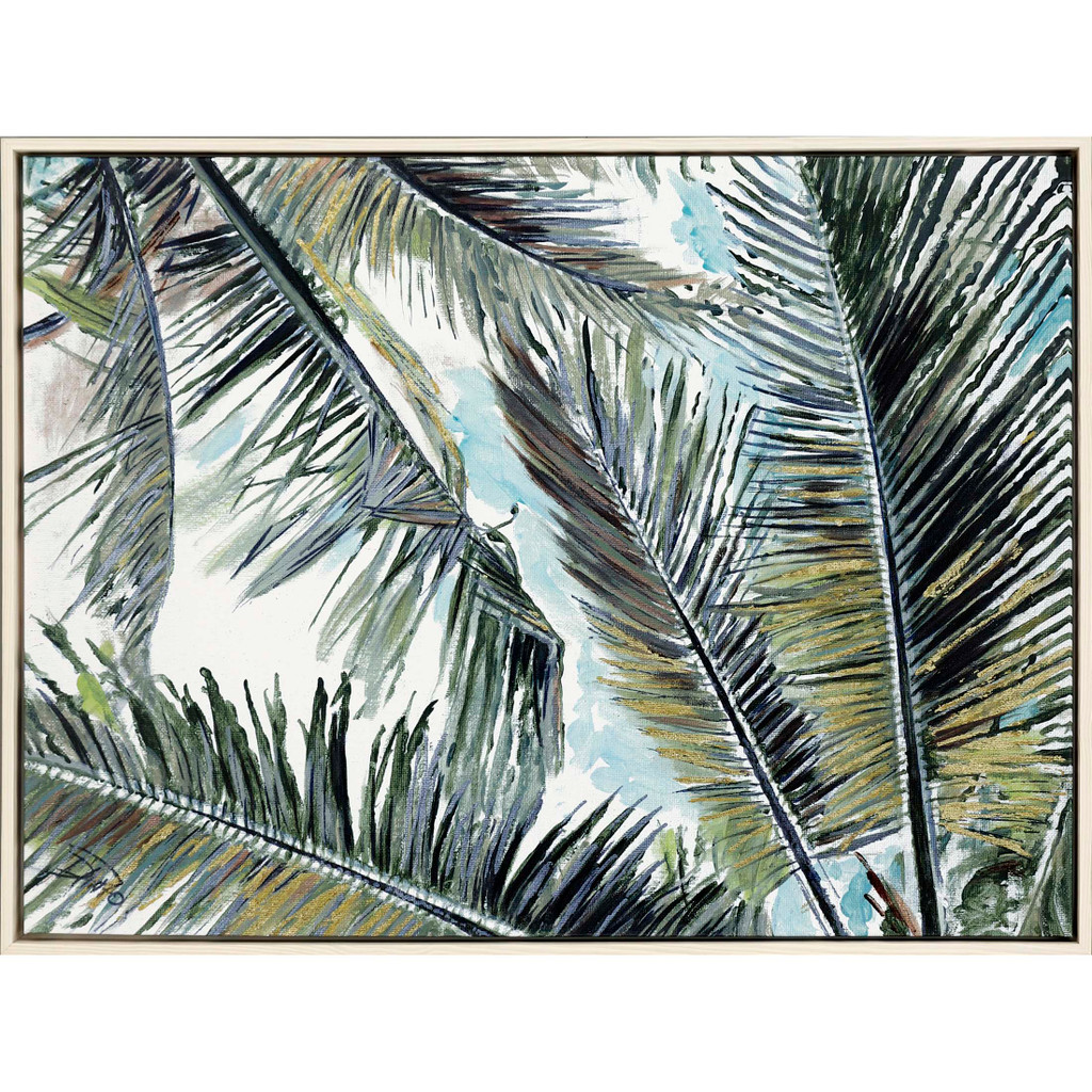 Palms in the Sky Giclee Framed Print