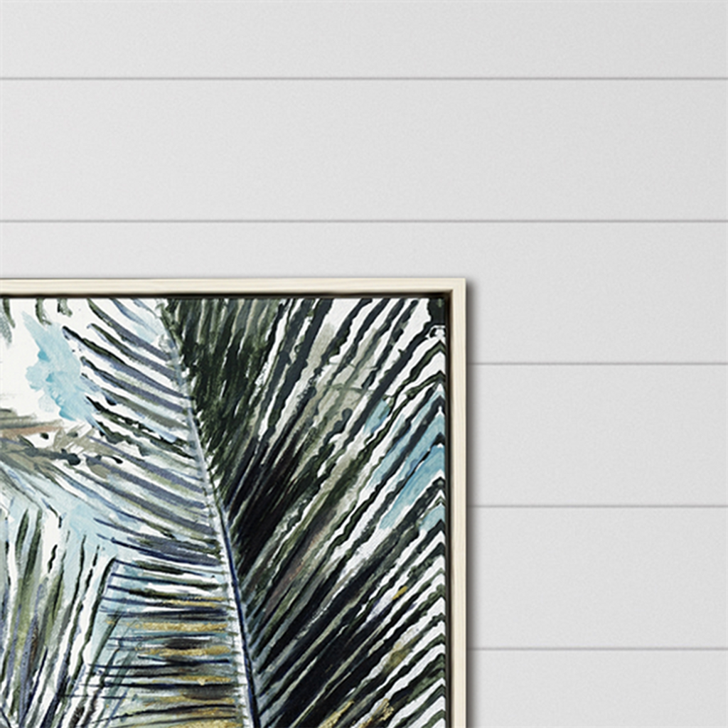 Palms in the Sky Giclee Framed Print close up corner