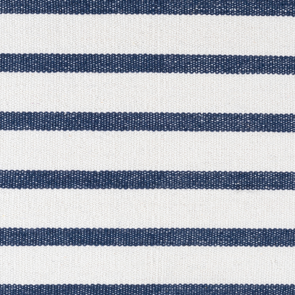 Charlize Nautical Navy Striped 22  x 22 Pillow close up fabric