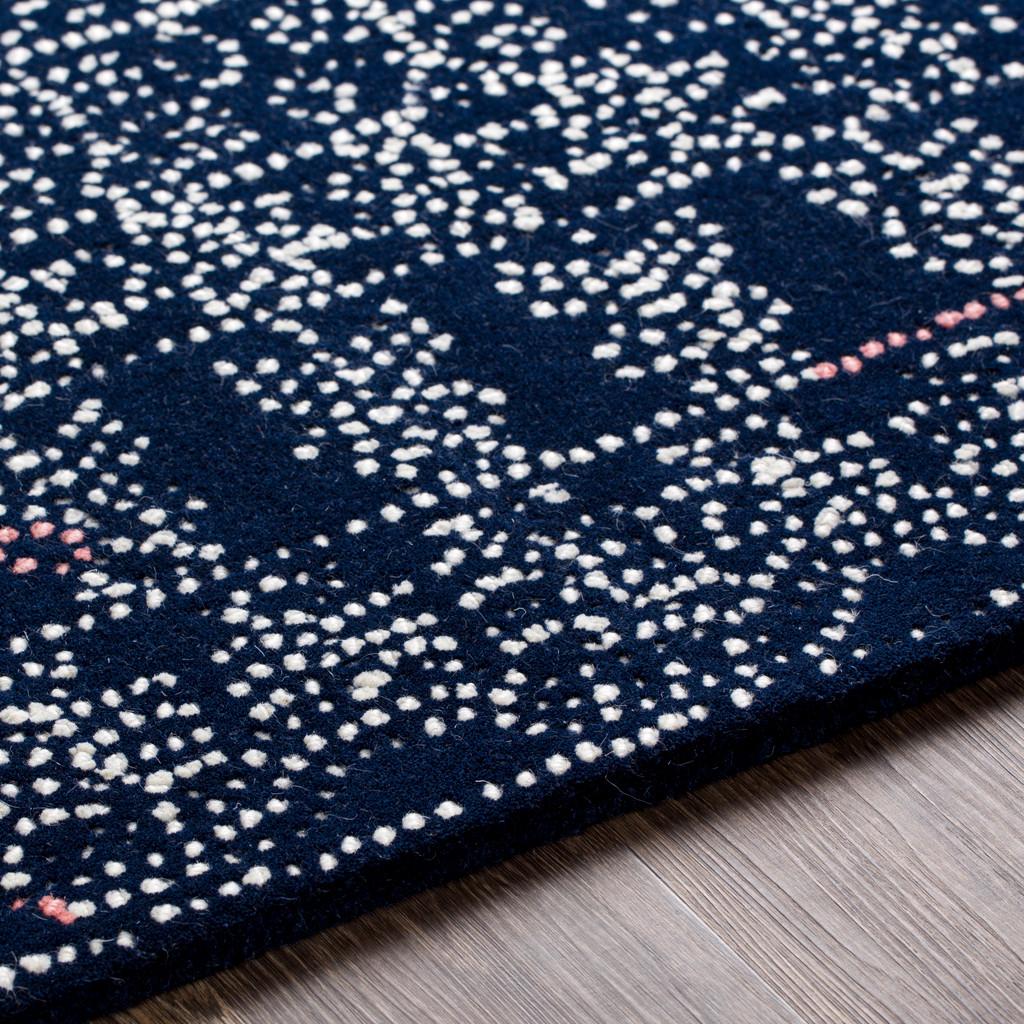 Ionian Blue Hand-Tufted Wool Area Rug edge