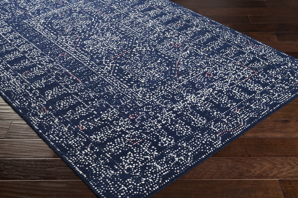 Ionian Blue Hand-Tufted Wool Area Rug floor view