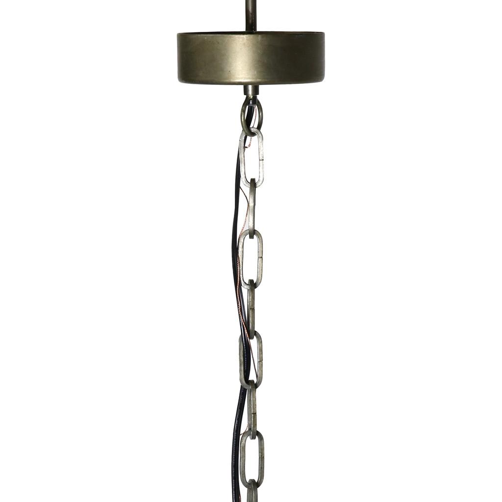 Beaded Coastal Sphere Pendant chain and ceiling cap