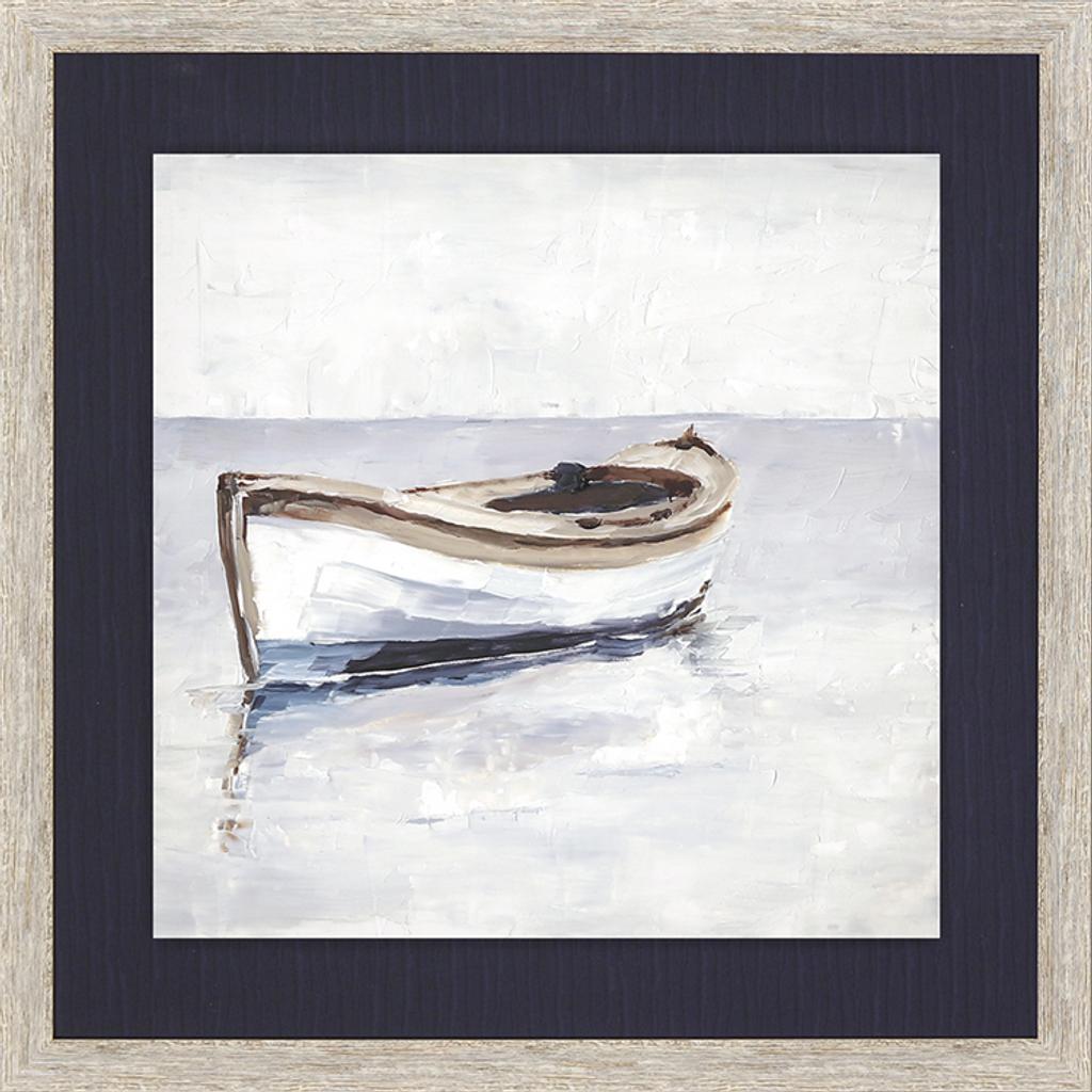 Reflected Horizon Set of Two Framed Nautical Prints .2