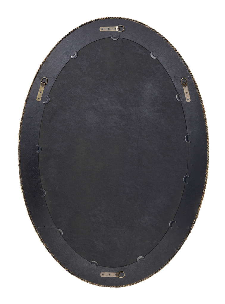 Lark Braided Framed Oval Mirror back of mirror