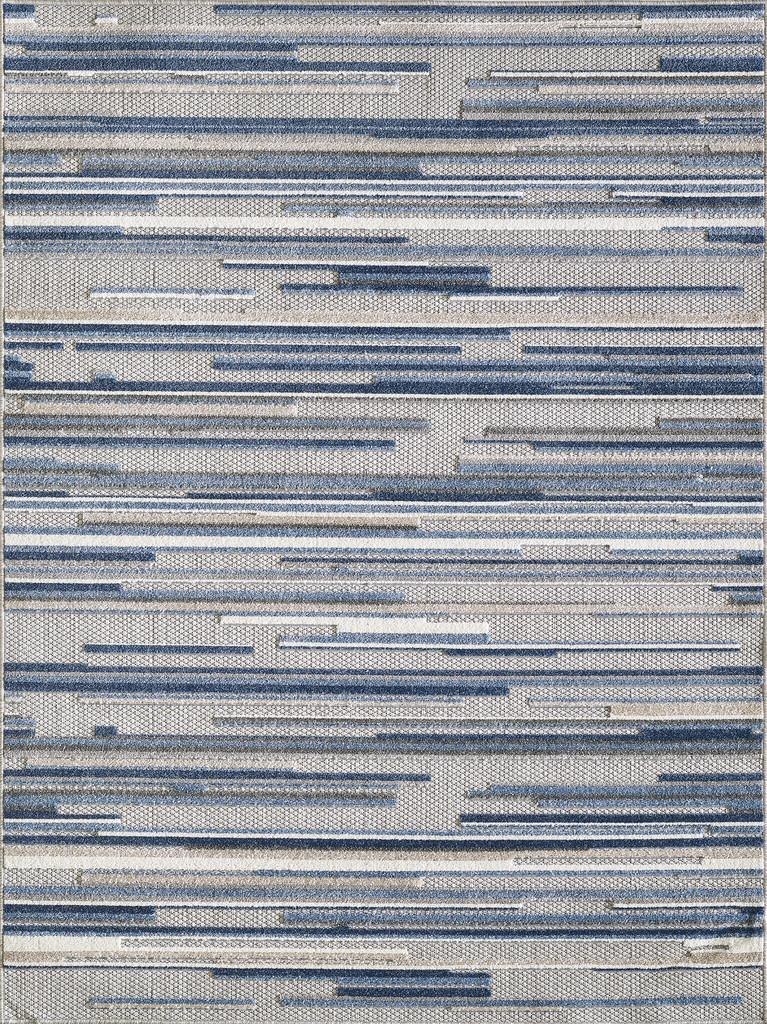 Blue Denni Striped Rug