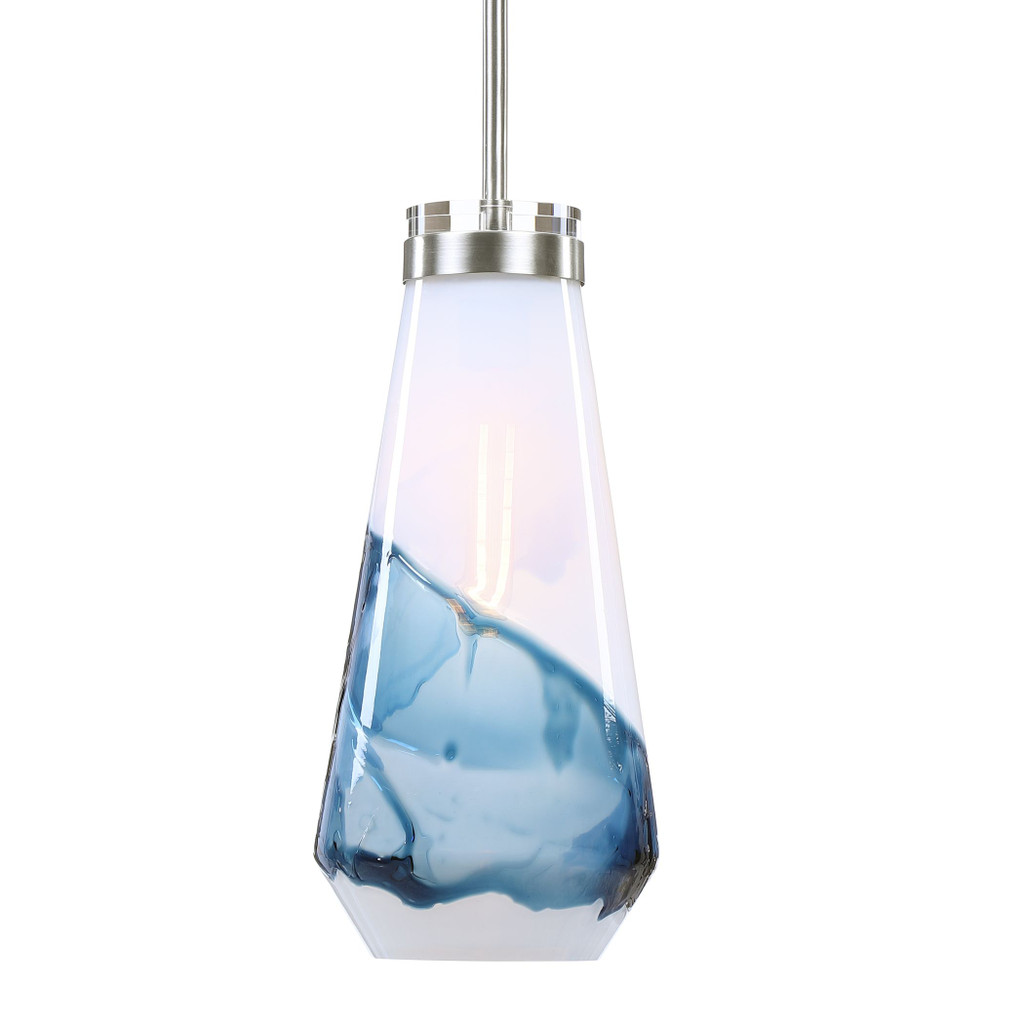 Windswept 1-Light Glass Mini Pendant light on