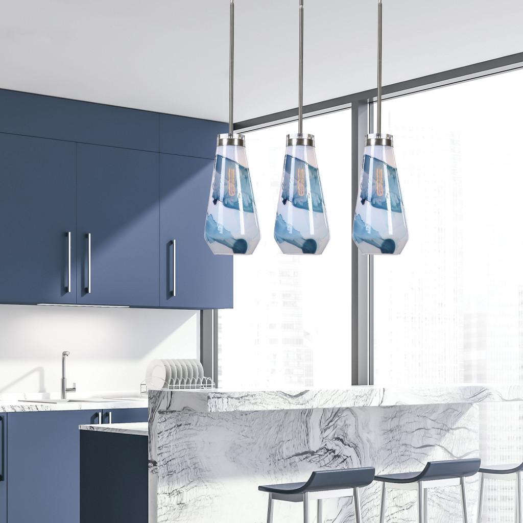 Windswept 1-Light Glass Mini Pendant room example