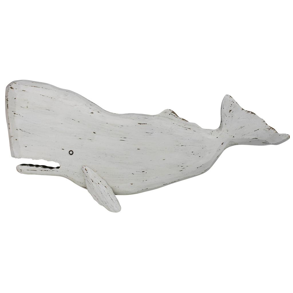 Melville White Sperm Whale Wall Decor
