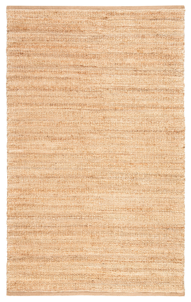 Canterbury Natural Solid Tan-White Woven Area Rug