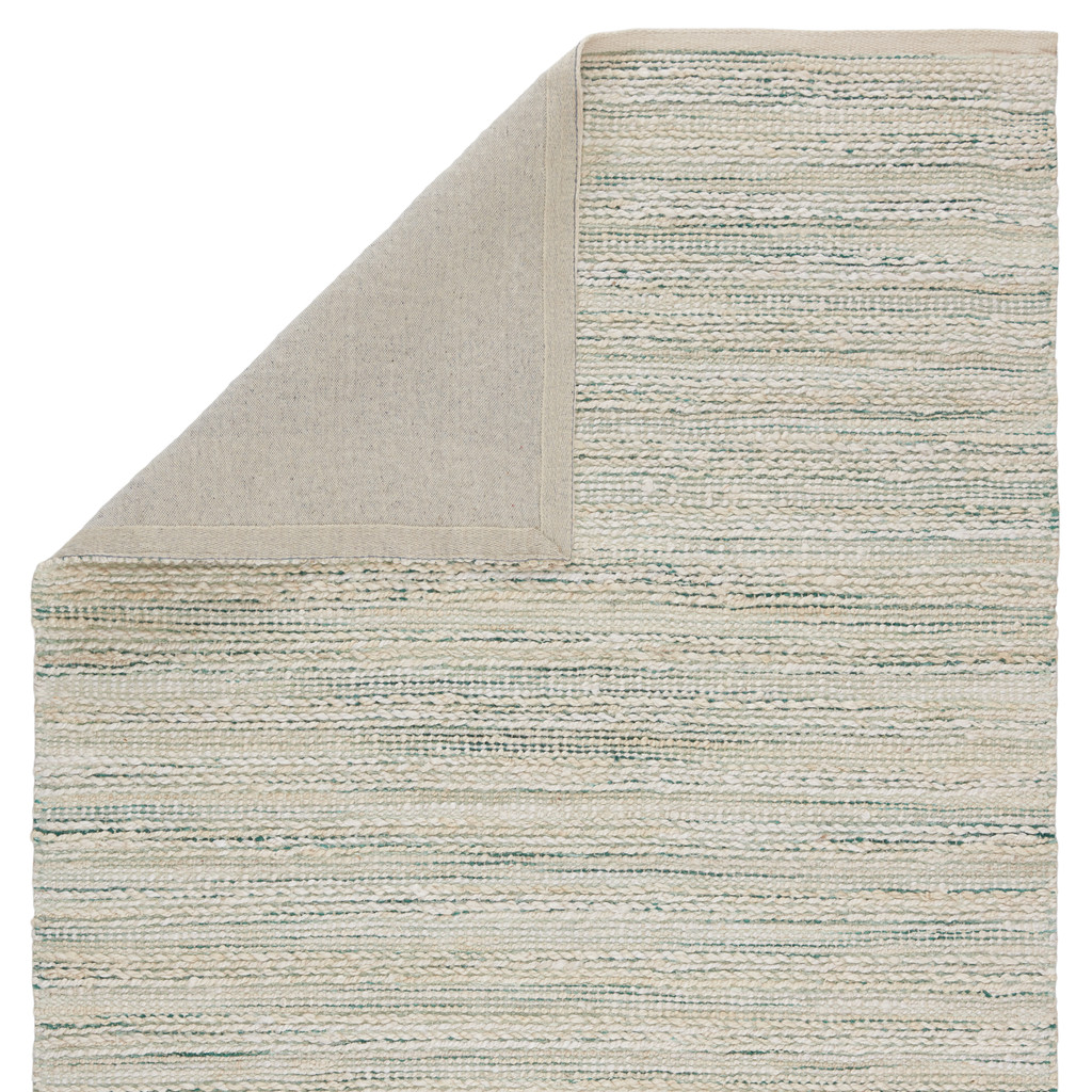 Canterbury Natural Seaglass Stripe Woven Area Rug backing
