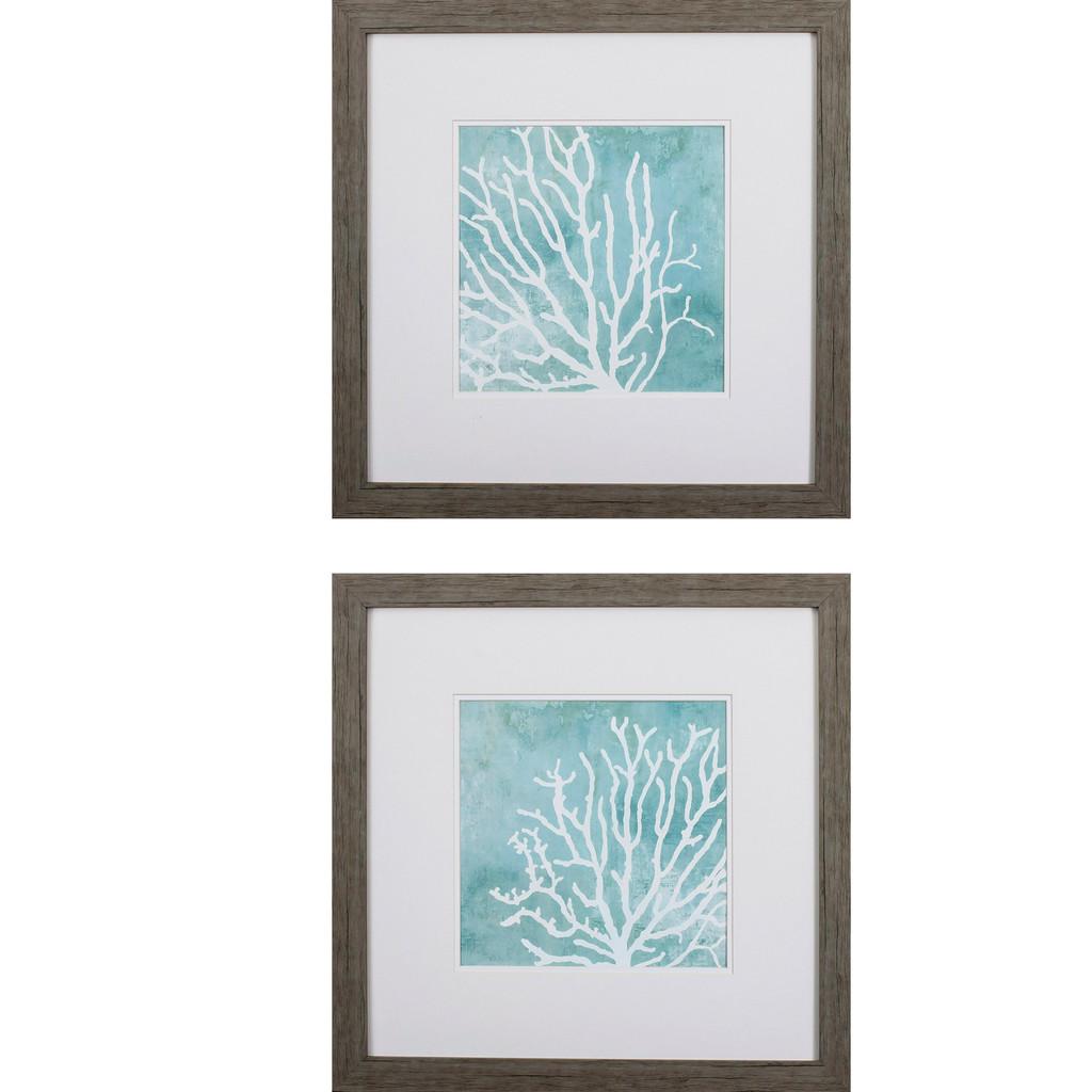 Sea Crowns - Set of Two Coastal Prints
