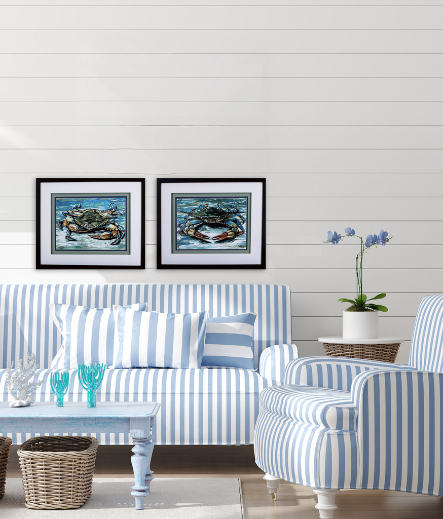 Blue Palette Crabs - Set of Two room example