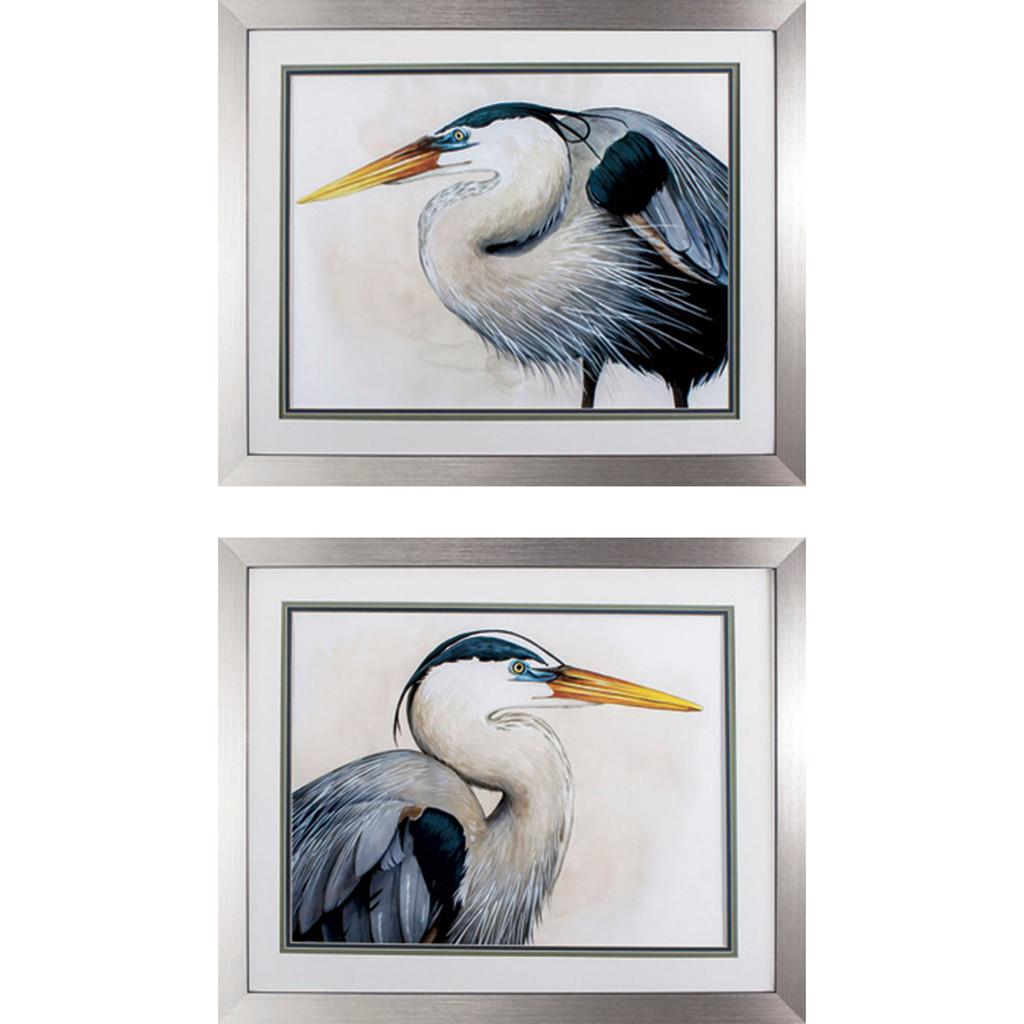 Blue Heron Sea Hunters - Set of Two Coastal Prints