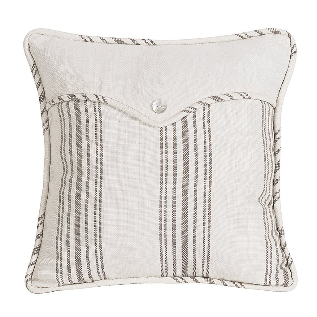 Taupe Striped Linen Weave Envelope Pillow